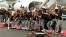 U.S. Women's National Team back home after World Cup win