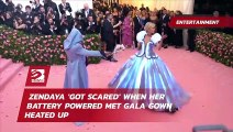 Zendaya 'got scared' when her battery powered Met Gala gown heated up