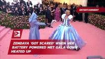 Zendaya 'got scared' when her battery powered Met Gala gown heated up