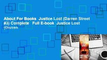 About For Books  Justice Lost (Darren Street #3) Complete   Full E-book  Justice Lost (Darren