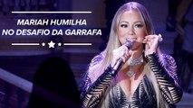 Mariah Carey vence desafio da garrafa como uma verdadeira diva