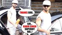 Kabir Singh Actor Shahid Kapoor ARRIVED At Juhu For Gym Session