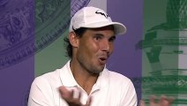 """Wimbledon 2019 - When Rafael Nadal gently reframes a journalist on the """"Barty controversy"""""""
