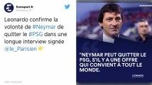 PSG : Leonardo: «Neymar peut quitter le club»