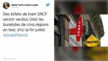 Des billets de train SNCF seront vendus chez les buralistes de cinq régions en test, d'ici la fin juillet