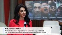 Amal Clooney to lead Duterte critic Maria Ressa's legal team