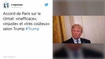 Donald Trump critique à nouveau l'accord de Paris sur le climat