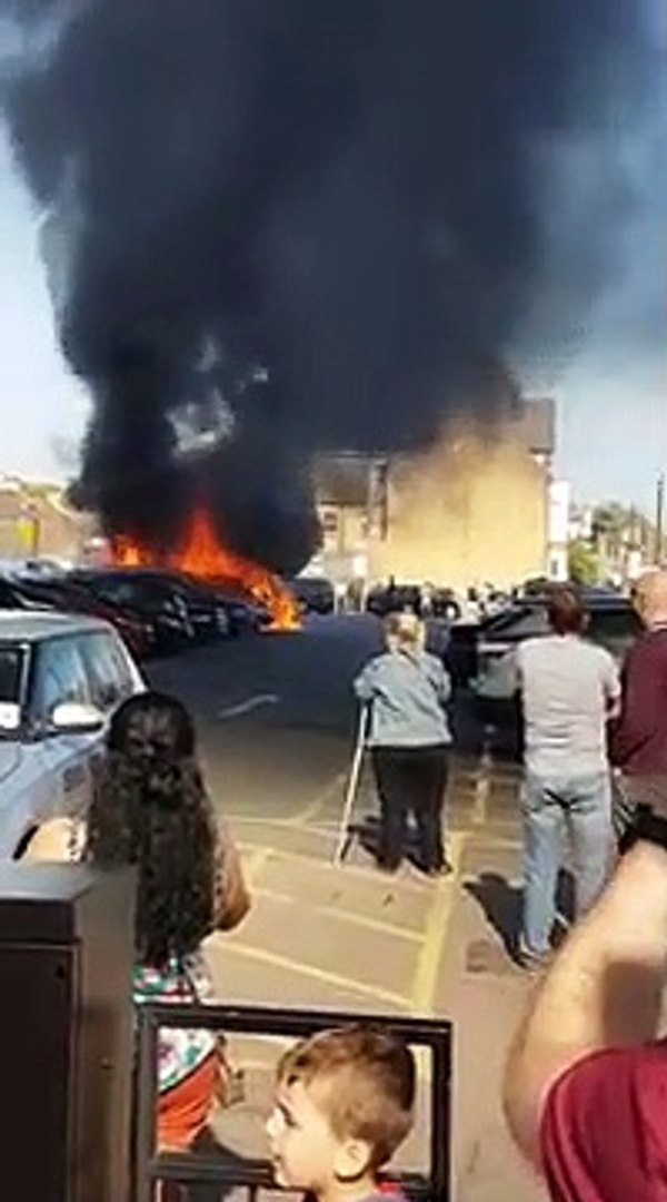 Vehicles engulfed in flames in car park fire in Southend on Sea II