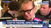 """""""Il était très très ému."""" L'avocat de Bernard Tapie évoque son état d'esprit quand il lui a annoncé sa relaxe pour escroquerie dans l'affaire du Crédit Lyonnais"""