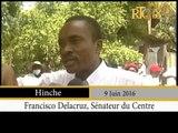 Haïti.- Campagne d'assainissement dans la ville de Hinche, ce jeudi 9 juin 2016.