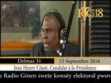 Jean-Henry Céant, le candidat à la présidence participe à l'émission Dil Janl Ye sur la RTG