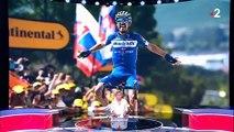 Tour de France: Regardez la réaction du français Julian Alaphilippe lorsqu'il apprend devant les caméras qu'il est maillot jaune !