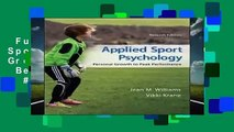 Full version  Applied Sport Psychology: Personal Growth to Peak Performance  Best Sellers Rank : #4