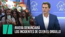 Rivera denunciará los incidentes de Cs en el Orgullo