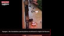 Espagne : des inondations spectaculaires envahissent la région de Navarre (vidéo)