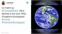Paris se déclare en « état d'urgence climatique »