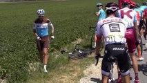 Tour de France 2019 : Tony Gallopin pris dans une chute