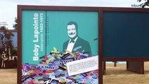 BEZIERS MONTBLANC - Hommage à Boby Lapointe sur l'aire de repos de l'A9