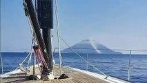 La puissante éruption du volcan Stromboli