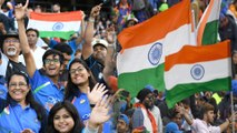 ICC Cricket World Cup 2019 : India Cricket Team Fans Waving National Flag At Old Ttrafford