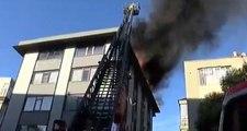 Son Dakika! İstanbul'da iş merkezinde korkutan yangın! Ekiplerin müdahalesi sürüyor