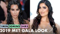 Getting Kim Kardashian West's Look in 1 Minute, 30 Minutes, and 3 Hours - Makeup Challenge