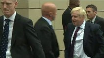 Boris Johnson and Jeremy Hunt arrive at leadership debate