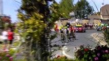 Elia Viviani wins stage four of the Tour de France