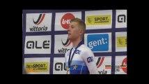 Piste - Championnat d'Europe Espoirs et Juniors : La cérémonie protocolaire de Jules Hesters
