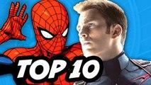 Captain America Civil War - Spider Man TOP 10 Costumes
