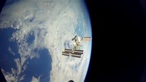 Space Station Crew Captures Earth's Glow Amid Starry Night