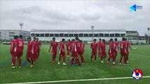 Các cầu thủ ĐT U15 Việt Nam hứng khởi bước vào buổi tập đầu tiên tại J-Green Sakai | VFF Channel