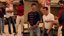 Salman Khan dances with Kichcha Sudeep & Sajid Nadiadwala on Urvashi song; Watch Video | FilmiBeat