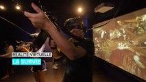 Réalité virtuelle: survivre aux hordes de zombie