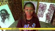 Nigerian artist turns scribbles into art