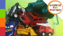 learn' Colors With Fire 'truck's For - Children-- Real And Construction 'truck's