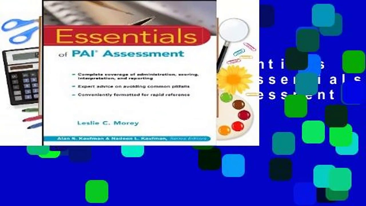 [BEST SELLING]  Essentials of PAI Assessment (Essentials of Psychological Assessment)