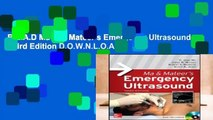 R.E.A.D Ma and Mateer s Emergency Ultrasound, Third Edition D.O.W.N.L.O.A.D