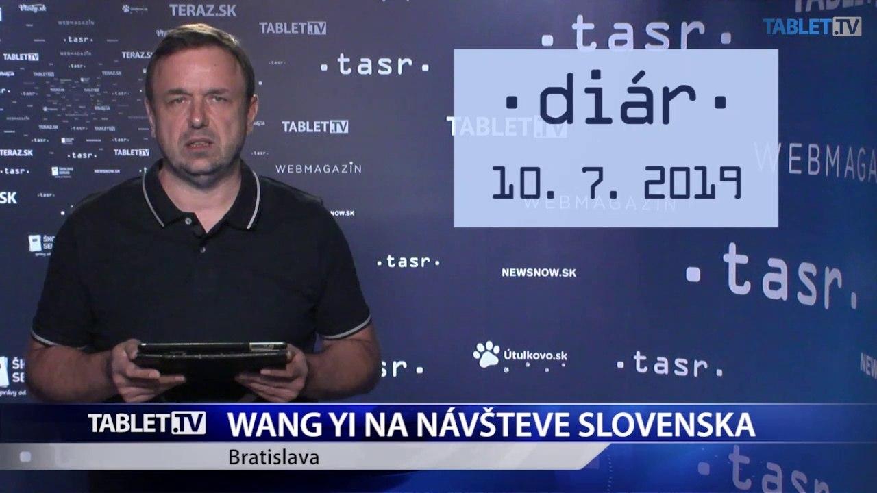 DIÁR: Šéf čínskej diplomacie na návšteve Slovenska