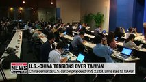 China demands U.S. cancel proposed $2.2 bil. arms sale to Taiwan