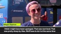 (Subtitled) 'Wah, wah, wah' Rapinoe dismisses criticism of Morgan's 'tea' celebration in USA win over England