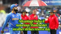 World Cup 2019 | Advantage India if notorious Manchester weather strikes reserve day