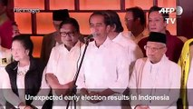 Indonesia's Joko Widodo re-elected president as rival cries foul
