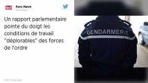 Les forces de l'ordre œuvrent dans des conditions «déplorables», selon un rapport parlementaire