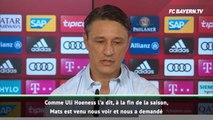 "Bayern - Kovac : ""Hummels a refusé la concurrence avec Süle et Hernandez"""