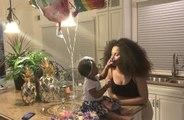 Kulture covers mom Cardi B in cake on first birthday
