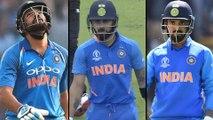 ICC Cricket World Cup 2019 : IND V NZ : Rohit Sharma,Virat Kohli,KL Rahul Gone In 19 Balls