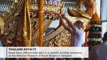 Colorful royal barge ceremony held ahead of Thai king's coronation finale