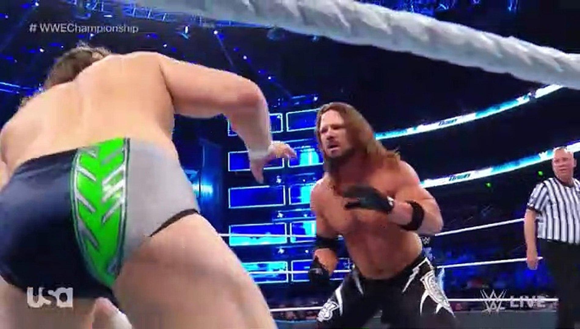 AJ Styles vs Daniel Bryan WWE Title - 3.75 stars WWE SmackDown 2018