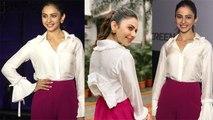 Rakul Preet Singh looks beautiful at Mumbai event; Watch Video   FilmiBeat